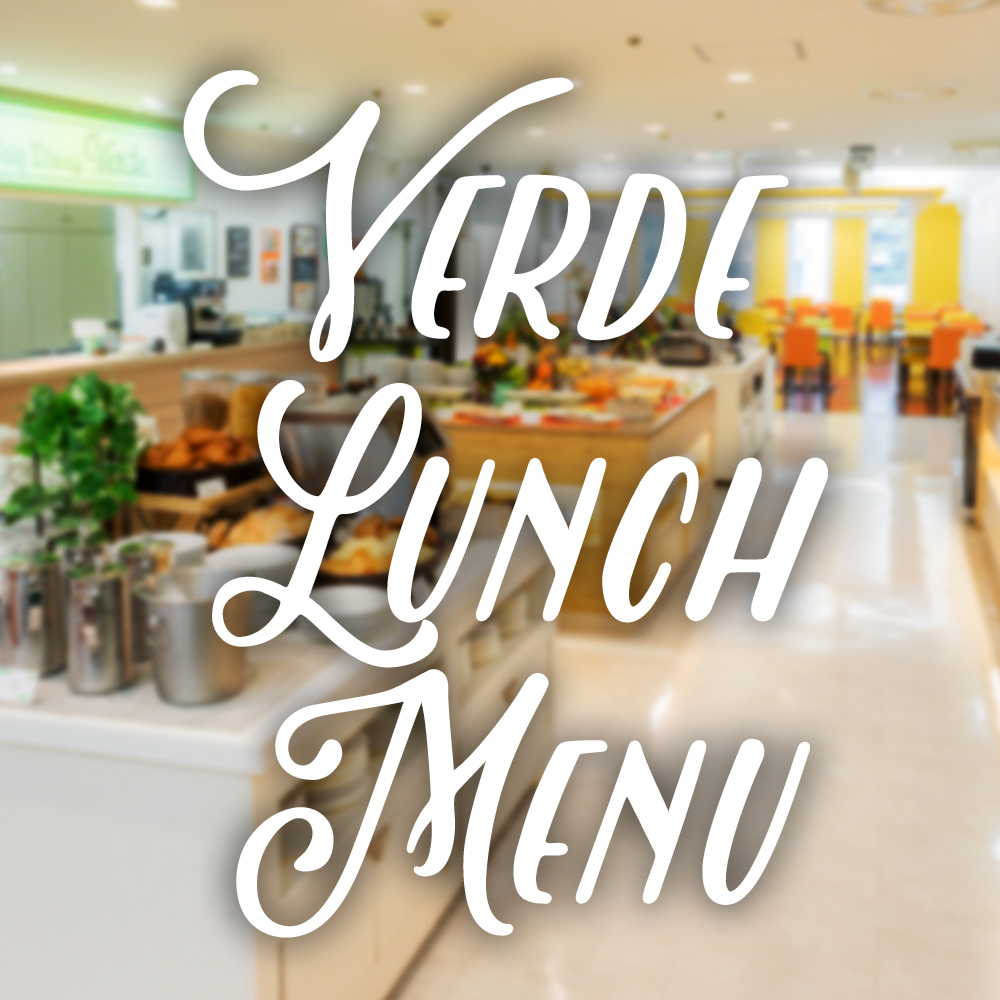 Verde Lunch Menu