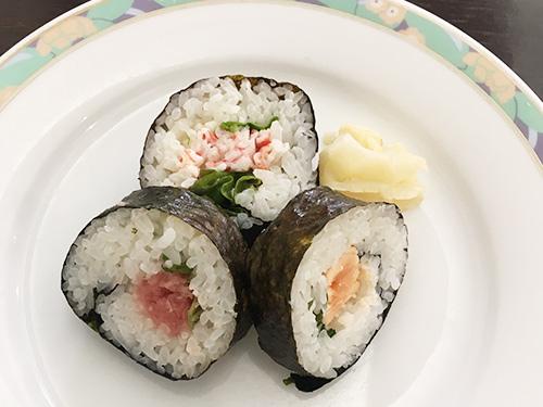 海鮮のり巻き3種(ネギトロ・あぶりサーモン・カニマヨ)