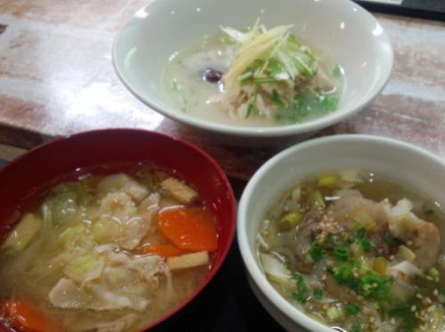 コラーゲンたっぷり選べる 牛テールスープ・豚汁・サムゲタン