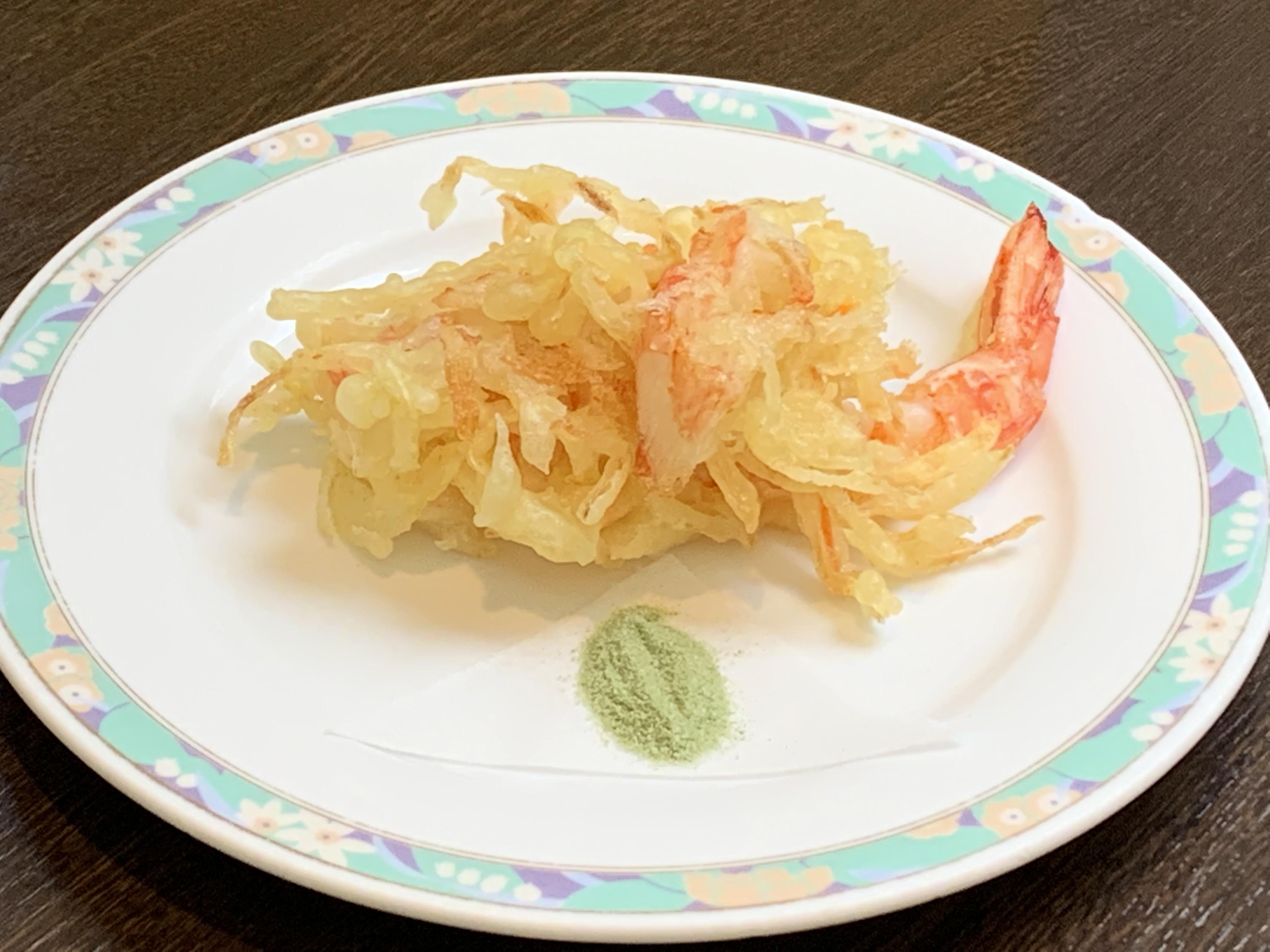 蟹と大海老のかき揚げ風天ぷら