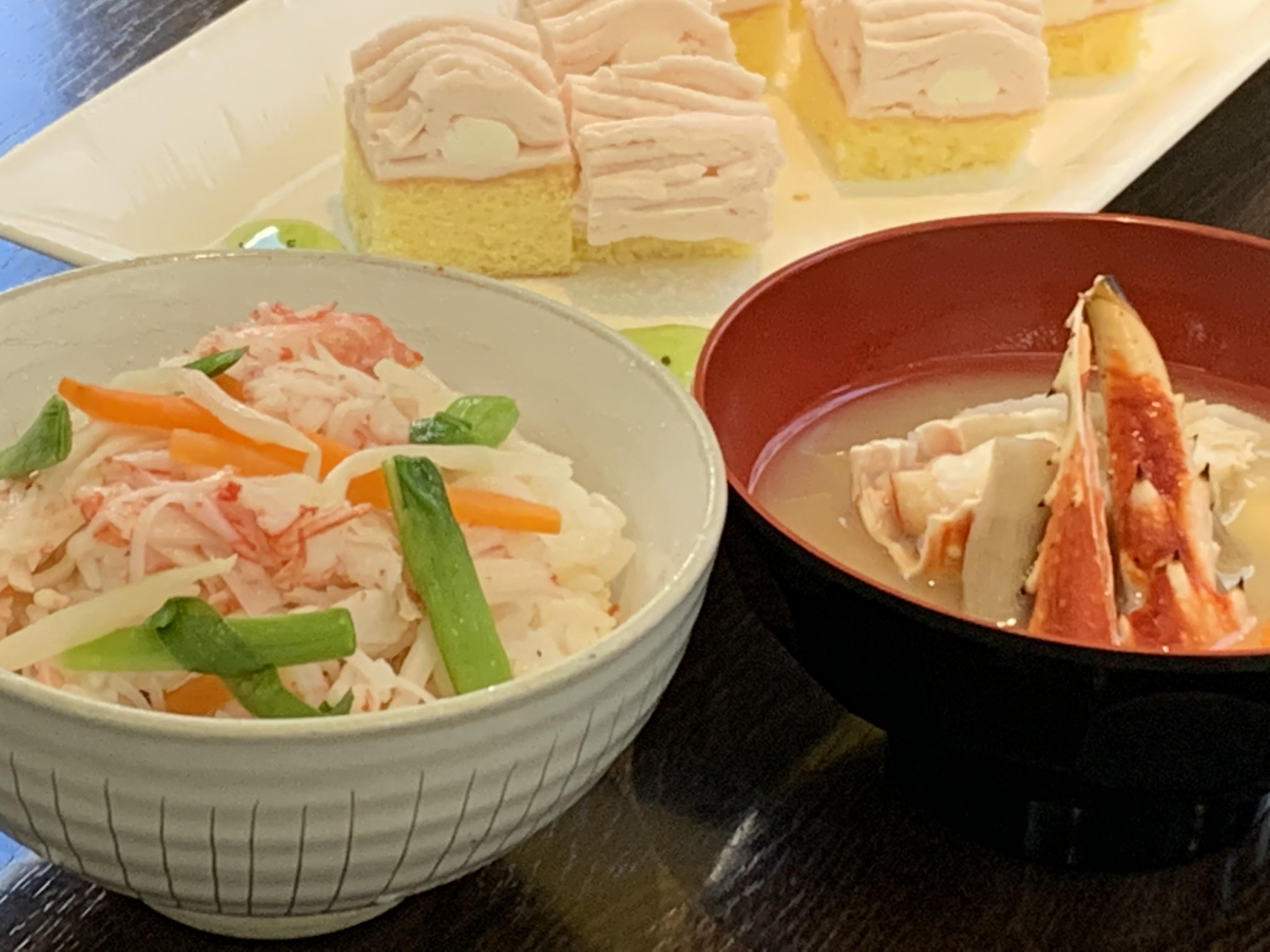 カニ飯&蟹汁