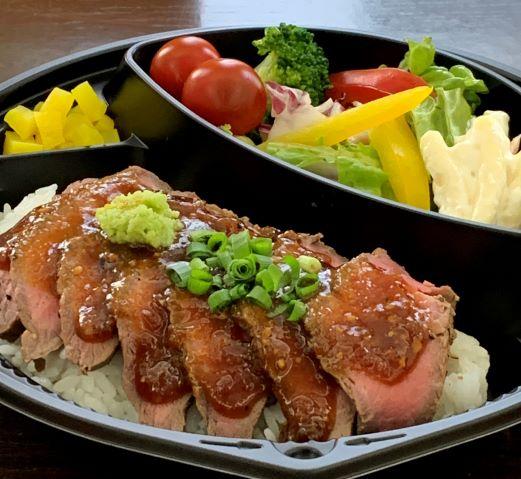 道産牛ステーキ丼