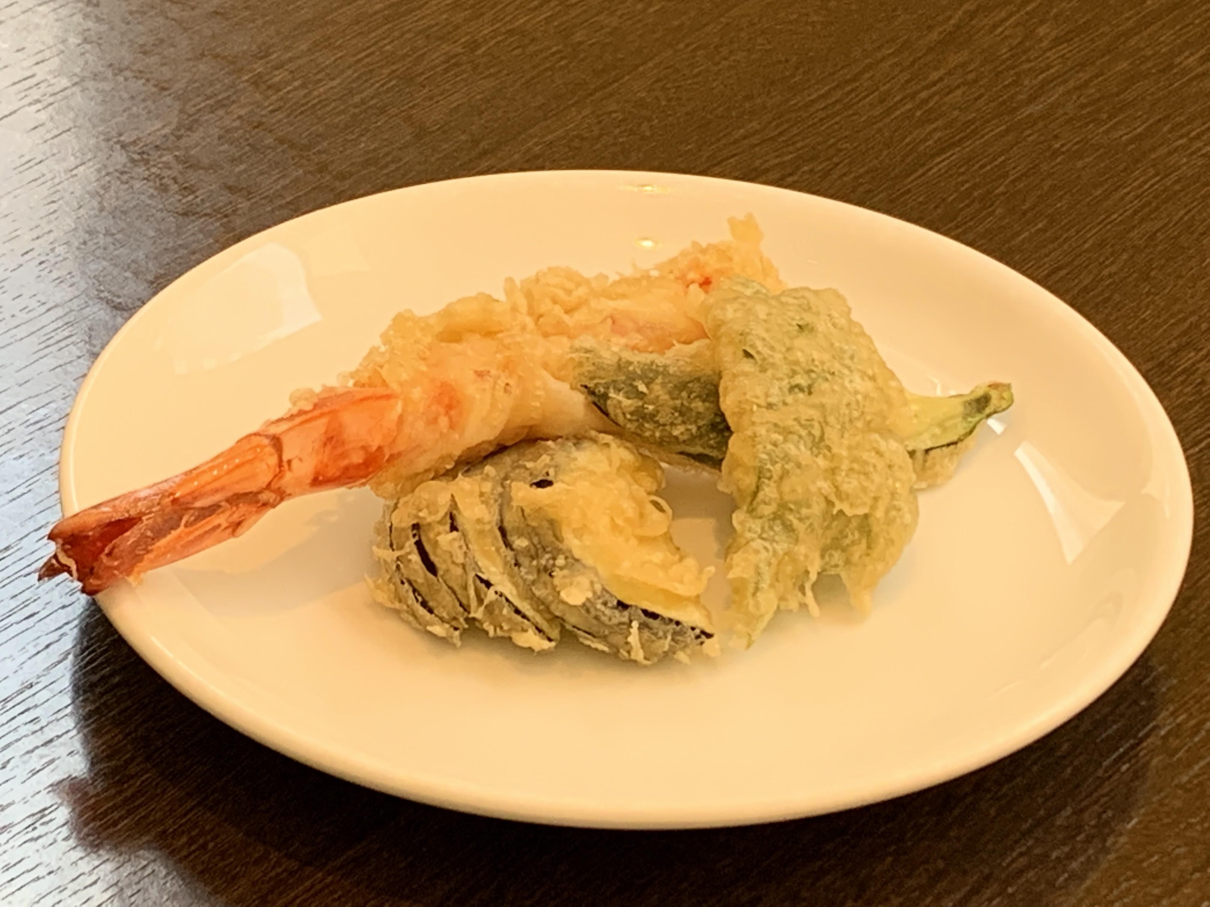 海老と夏野菜の天婦羅
